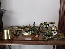 Collection of Various Antique Brass