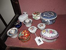 Various Antique and Other Porcelain Trinket and