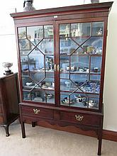 George III Mahogany Astral Glazed Two Door Display