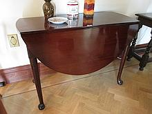 Antique George III Mahogany Drop Leaf Table on