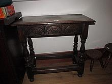 Antique Side Table of Slender Rectangular Form