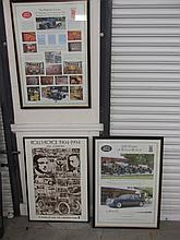 Three Framed Rolls Royce Posters 33 Inches High x