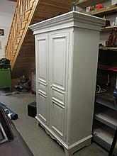 Modern Painted Two Door Wardrobe 79 Inches High x