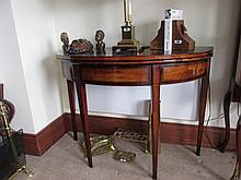 Regency Mahogany Foldover Side Table with Inlaid
