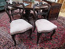 Fine Set of Six Early Victorian Solid Rosewood