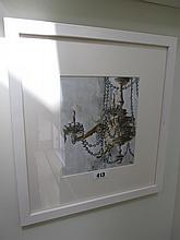 Yvonne Moore Chandelier Watercolour Signed 8