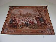 Fine Wall Tapestry Titled Les Pateneurs After a