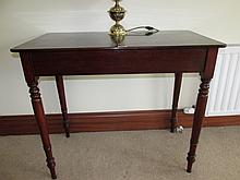 Victorian Mahogany Side Table with Turned Supports
