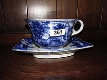 Breslin Plate with Large Old Lang Syne Tea Cup