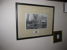 Framed William E Calderon Royal Academy Etching