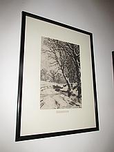 Antique Framed Engraving Signed