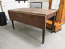 Victorian Drop Leaf Table on Turned Supports 28
