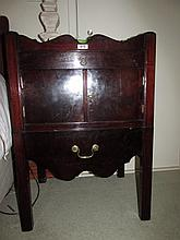 Pair of Antique Mahogany Side Lockers with Lower