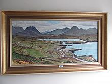 Mike Carroll Kerry Scene Oil on Board Gilt Framed