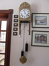 Victorian Embossed Brass Wall Clock Dial Engraved