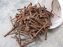 Antique Blacksmiths Handmade Nails Quantity As