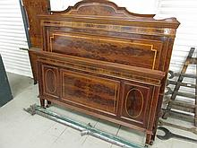 Fine Antique Figured Mahogany Double Bed with