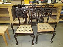 Five Chippendale Dining Chairs As Viewed