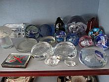 Paperweight Collection of Fourteen Pieces Various