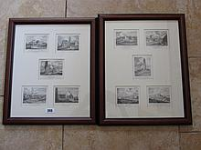 Set of Ten Etchings Framed as Two Kildare Interest