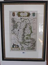 Early Eighteenth Century Irish Hand Coloured Map