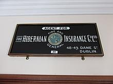 Brass Framed Vintage Hibernian Insurance Agent