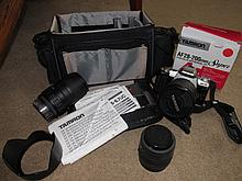 Vintage Tamron Camera with Attachments and Case