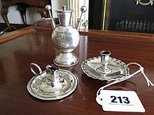 Three Pieces of Solid Silver Including Victorian