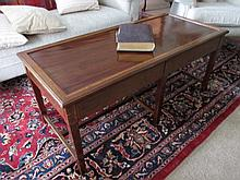 Edwardian Solid Mahogany Crossbanded Coffee Table