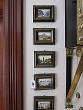 Carol Anne Waldron Set of Five Miniature Framed