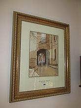Tom Nisbet RHA Towards Baggot Street Gilt Framed