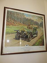 Vintage Framed Rolls Royce Silver Ghost Signed and