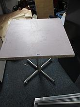 Single Table on Aluminium Base