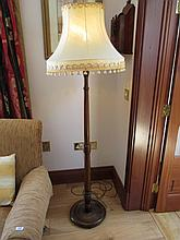 Edwardian Mahogany Turned Column Standard Lamp