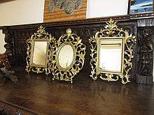 Three Ormolu Framed Table Mirrors Tallest 12