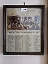 Framed 1896 Photograph Members of The Dublin Stock