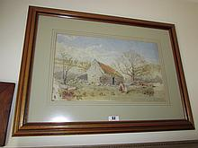 Victorian School Watercolour of Country Scene