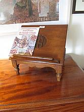 Antique Mahogany Book Rest on turned Supports 13