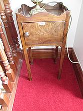 Georgian Mahogany Single Door Side Locker with