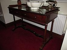 William IV Mahogany Side Table with Two Drawers on