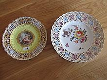 Two Meissen Plates Depicting Diana 8 Inches