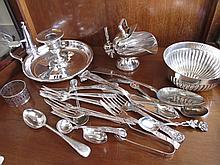 Collection of Silver Plate A Quantity