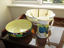 Edwardian Hand Painted Jug and Basin with Another