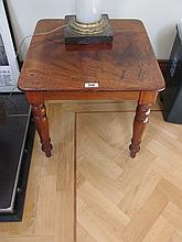 William IV Mahogany Low Side Table on Turned