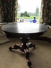 William IV Marble Top Table on Well Carved
