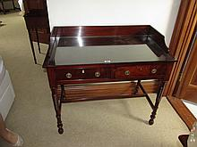 Early Victorian Mahogany Side with Turned Supports