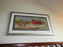A Molynk French School Humorous Scene Lithograph