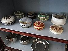 Collection of Various Porcelain Jars with Covers