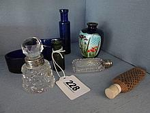 Collection of Various Antique Perfume Bottles of