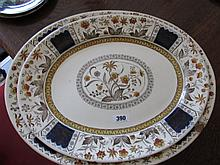 Pair of Matching antique Serving Plates with